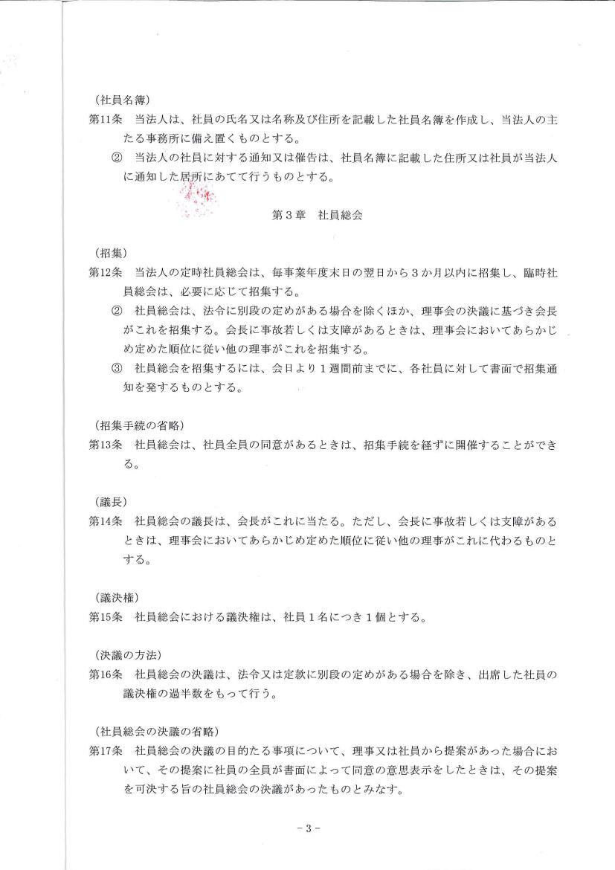 団体の定款 -Page3-