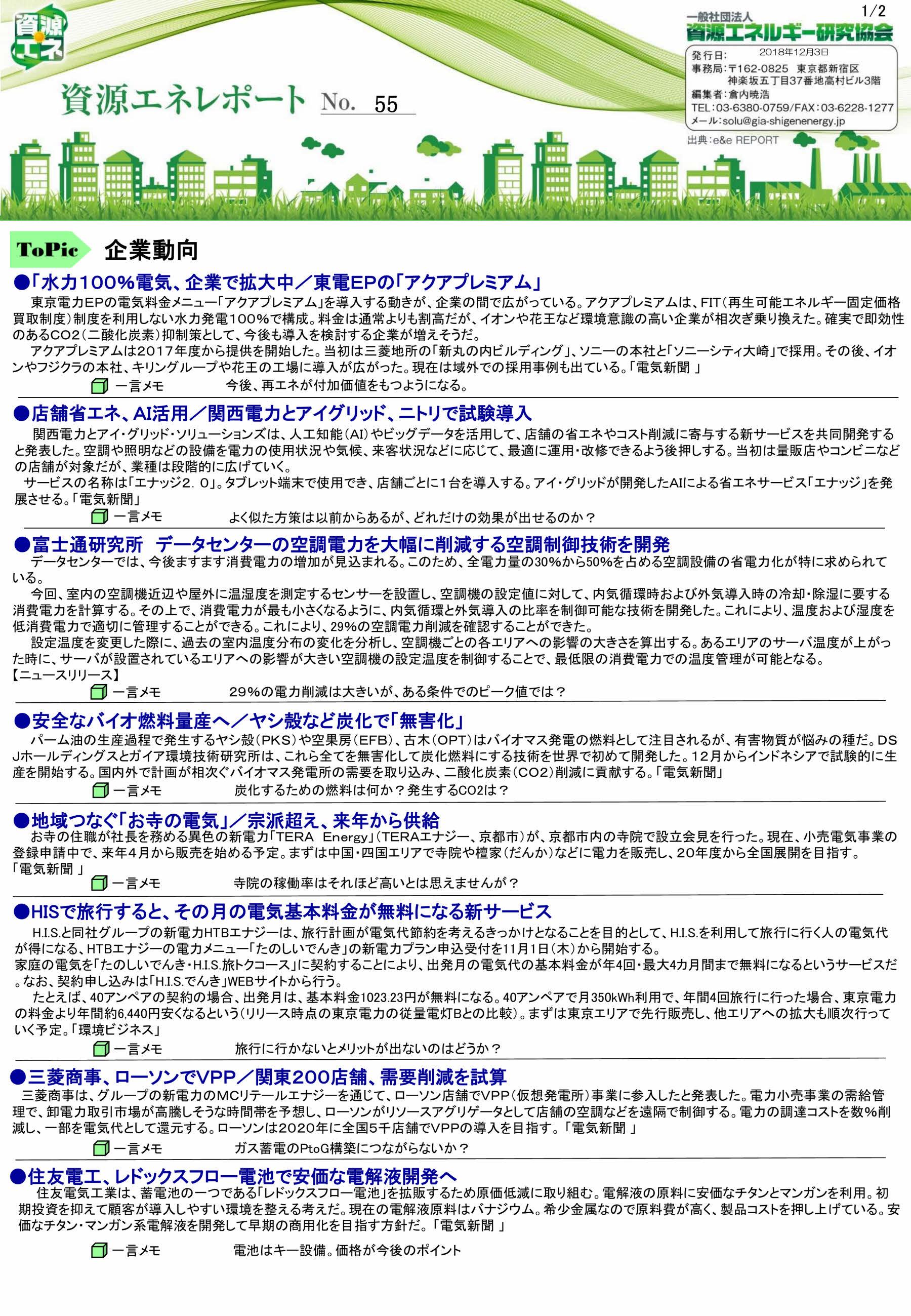 資源エネレポート -N0.55-